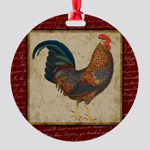 Red Rooster vintage Ornament