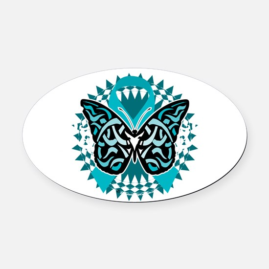 Cool Ovarian cancer Oval Car Magnet