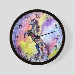 Wild Unicorn Wall Clock