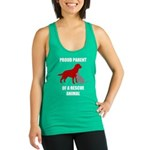 Proud Parent of a Rescue Animal Racerback Tank Top