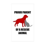 Proud Parent of a Rescue Animal Sticker