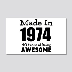 Custom Birthday Made in year and age Wall Decal