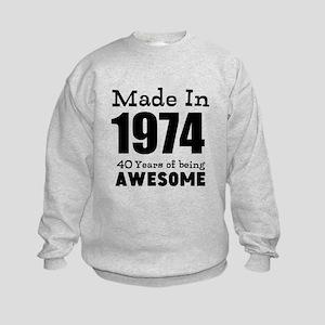 Custom Birthday Made in year and age Sweatshirt