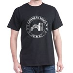 Growing Up Astoria Stamp Circle T-Shirt (dark)