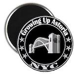 Growing Up Astoria Stamp Circle Magnets