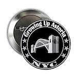"Growing Up Astoria Stamp Circle 2.25"" Button"
