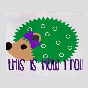 Love Hedgehogs How I Roll Throw Blanket