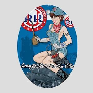 Union Pacific Railroad Oval Ornament