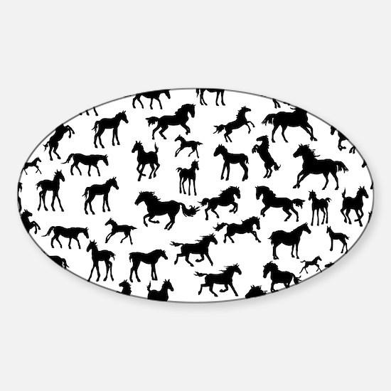 Mini Horses Sticker (Oval)