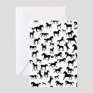Mini Horses Greeting Card