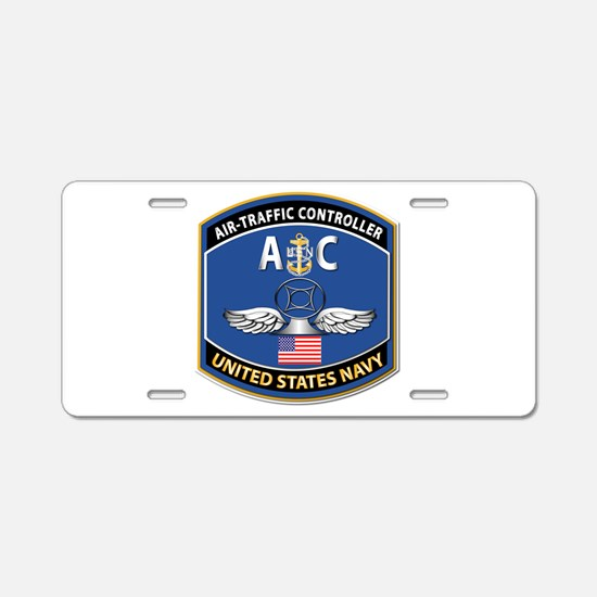 Air Traffic Controller - NE Aluminum License Plate