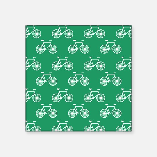 White Bicycle, Cycling Pattern; Kelly Green Sticke