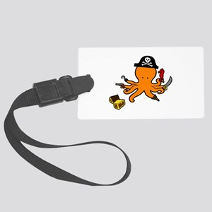 Octopus Pirate Luggage Tag