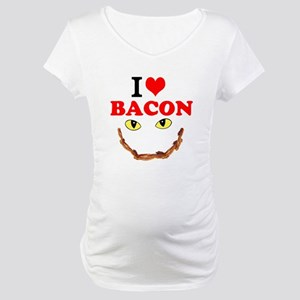I Love Bacon Maternity T-Shirt