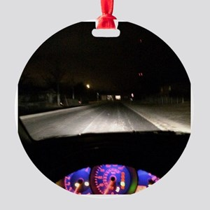 Night Drive Round Ornament