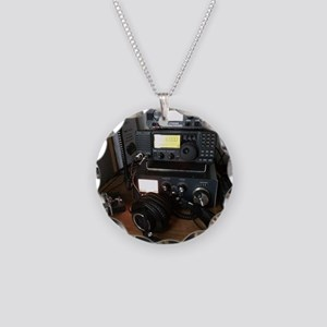 Ham Radio Station Necklace Circle Charm