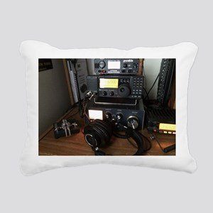 Ham Radio Station Rectangular Canvas Pillow