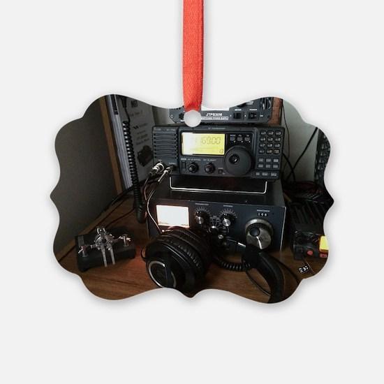 Ham Radio Station Ornament