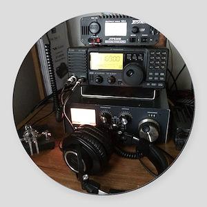 Ham Radio Station Round Car Magnet