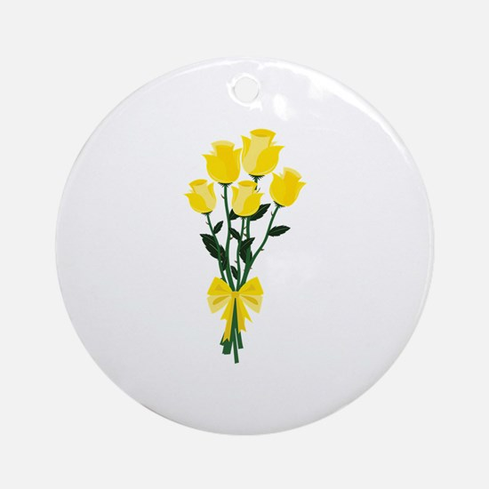 Yellow Roses Ornament (Round)