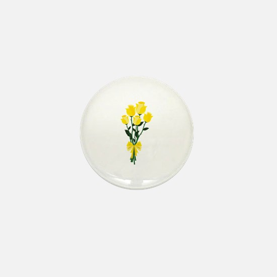 Yellow Roses Mini Button