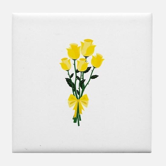 Yellow Roses Tile Coaster
