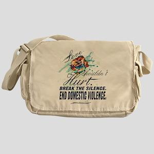 END DOMESTIC VIOLENCE -- Awareness Messenger Bag