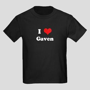 I Love Gaven Kids Dark T-Shirt