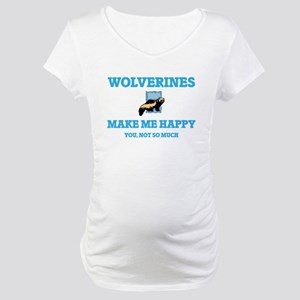 Wolverines Make Me Happy Maternity T-Shirt