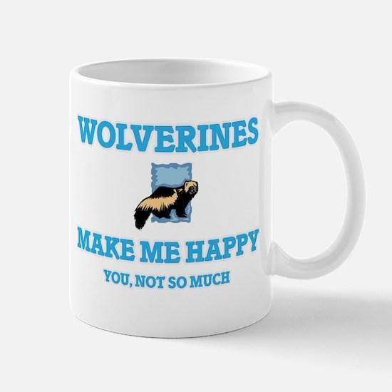 Wolverines Make Me Happy Mugs