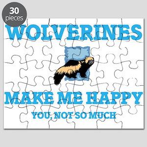 Wolverines Make Me Happy Puzzle