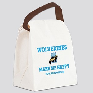 Wolverines Make Me Happy Canvas Lunch Bag