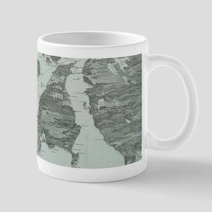 Vintage Pictorial Map of Narragansett Bay (19 Mugs