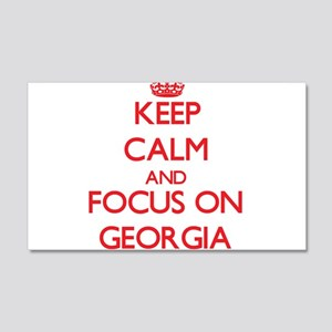 Keep Calm and focus on Georgia Wall Decal
