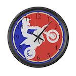 Peewee Dirt Bike Large Wall Clock
