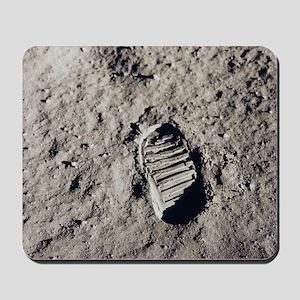 Footprint on Moon Mousepad
