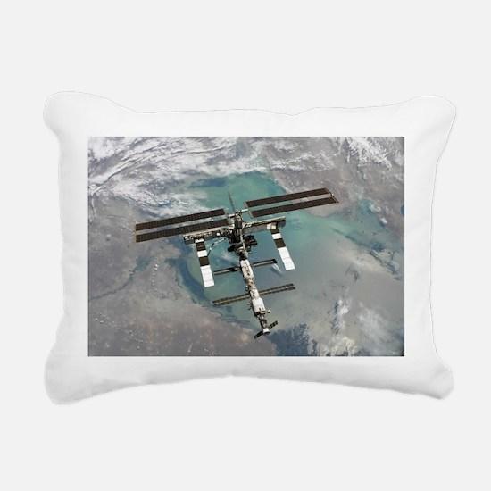 Space Station Rectangular Canvas Pillow