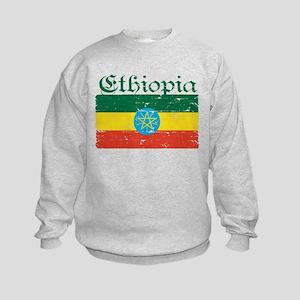 Ethiopian flag Kids Sweatshirt