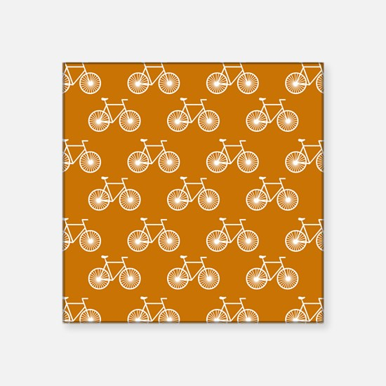 White Bicycle, Cycling Pattern; Burnt Orange Stick