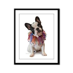 French Bulldog Puppy Framed Panel Print