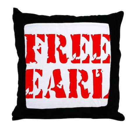 FREE EARL Throw Pillow