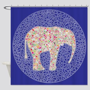 Elephant Circle, Shower Curtain