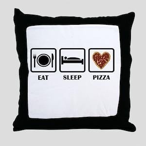 Eat Sleep Pizza Throw Pillow
