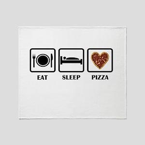 Eat Sleep Pizza Throw Blanket