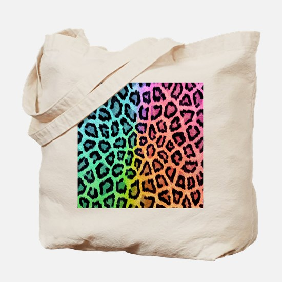 Colorful Leopard Tote Bag