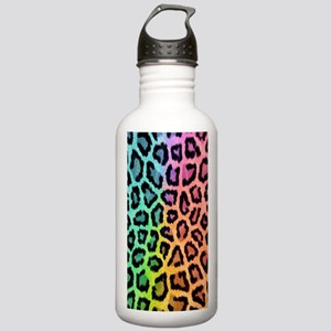 Colorful Leopard Stainless Water Bottle 1.0L
