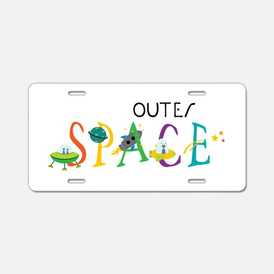 Outer Space Aluminum License Plate