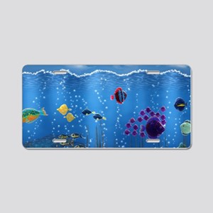 Underwater Love Aluminum License Plate