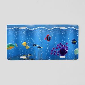 Underwater Love Aluminum License Plate