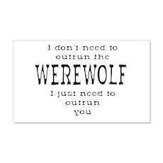 Outrun The Werewolf 1 Wall Decal Sticker
